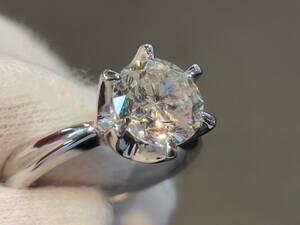★8日間限定★Pm900 大粒ダイヤモンドリング D2.151ct 約8.2g 約12号  ダイヤモンド リング プラチナ  一粒ダイヤ ダイヤリング