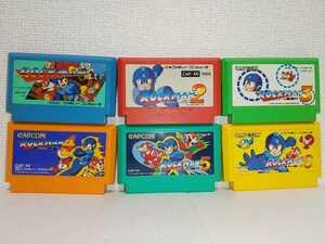6本セット ロックマン2 3 4 5 6 送料無料 ファミコンソフト カセット まとめ ジャンク