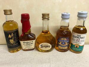 ウイスキー ミニチュアボトル50ml 5本セット
