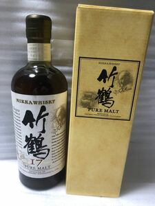 290-1古酒未開栓 旧 竹鶴17年 ピュアモルトウイスキー700ml43%シュリンクに少しだけ傷あり。写真参照