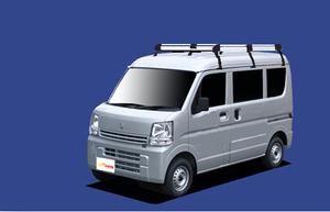 ★TUFREQ ルーフキャリア エブリィ DA17V/DA17W ハイルーフ用Hシリーズ ロング