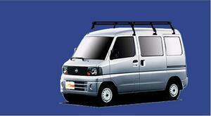 ★TUFREQ ルーフキャリア クリッパー U71V/U72V ハイルーフ用Pシリーズ ロング