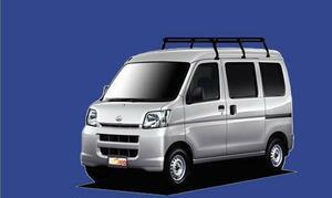 ★TUFREQ ルーフキャリア ハイゼット S320/330系 ハイルーフ用/Pシリーズ ミドル