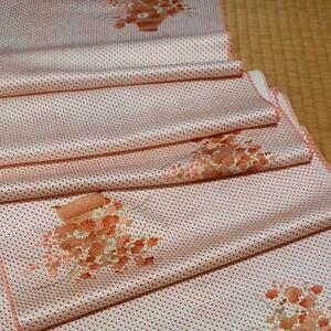 ハギレ 上質な綸子 37 ×164 パッチワーク 市松人形 着物