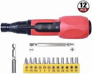 新品Easy Life電動ドライバー USB充電式 手動兼用 LEDライト正逆転切り替え軽量電ドラボール 3.6V 2RS0