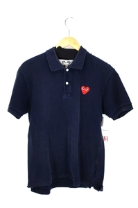 プレイコムデギャルソン PLAY COMME des GARCONS ハートワッペン ポロシャツ メンズ M 中古 古着 210910