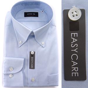 新品 enter G 五大陸 シャンブレー オックス BD ドレスシャツ 42-86(LL) 白青 【LW1327_473】 gotairiku シャツ EASY CARE 日本製 メンズ