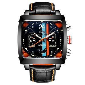 【新品】PAULAREIS メンズ 腕時計 機械式自動巻き ブラック