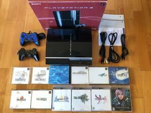 動作品 ファイナルファンタジー1,2,4~10,13がまとめてプレイできる PS3本体(大容量320GB)+コントローラ2個+接続ケーブル(HDMI含む)