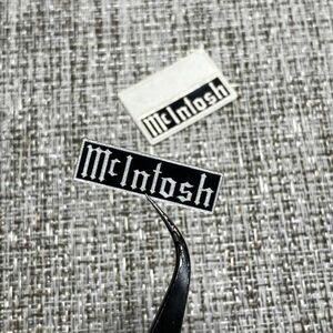 ◆ McIntosh 枠付 艶黒/銀 ステッカー 30mm 2枚 ■ マッキントッシュ 双三極管 12AX7A 真空管 パワー プリメイン アンプ 修理 交換 部品