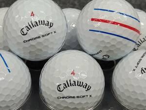 ☆高品質☆A級☆キャロウェイ CHROME SOFT X 2020年モデル ホワイト 30球セット ゴルフボール☆ロストボール