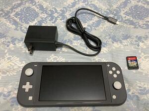 Nintendo Switch Lite グレー 任天堂 本体 + ソフト1つ ニンテンドー スイッチライト 美品