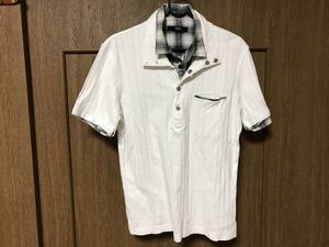 NICOLE Selection ニコル セレクション ★ 半袖 ポロシャツ  サイズ48 メンズ 白
