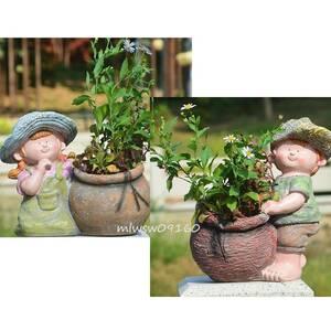 妖精のガーデン フラワーポット 多肉植物ポット ミニ観葉 サボテン 植木鉢
