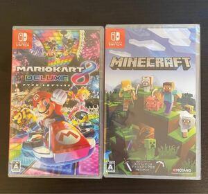 ☆ 新品未開封 マリオカート8 デラックス マインクラフト 2本セット Nintendo Switch