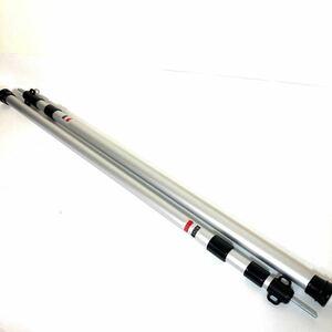 テントポール タープポール 3本セット 伸縮 90-230cm スライド アルミGEJ-TPS