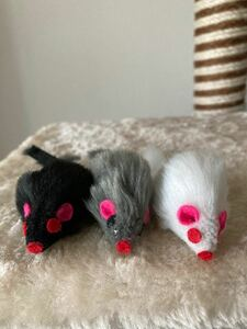 猫のおもちゃ ねずみさん3匹