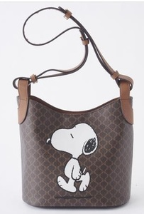 最新 新品 しまむら スヌーピーバッグ ショルダーバッグ 茶 ベージュ スクエアショルダーバッグ スヌーピー 小物 バッグ