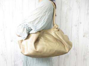 極美品 LOEWE ロエベ ナッパアイレ ハンドバッグ ショルダーバッグ バッグ ナッパレザー ゴールド 42422