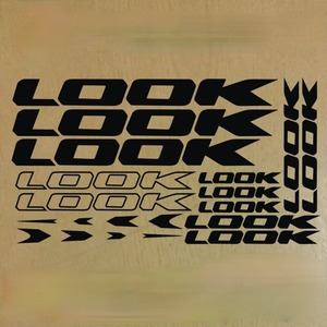 ロードバイク ステッカー ルック LOOK ブラック