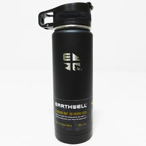 Earthwell Roaster Loop Bottle ステンレス ボトル 20oz 592ml ブラック 魔法瓶 アースウェル ロースターループボトル