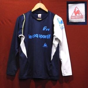 ルコック サッカー ゴルフ 多機能 トレーニングウェア スポーツウェア ロンT 長袖 Tシャツ プラシャツ 紺 白 L サイズ