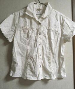 シャツ カットソー シャツ 半袖 トップス ホワイト 158センチ レディース