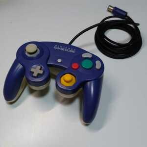 ゲームキューブコントローラー  初期型 バイオレット&クリア 動作確認済み GCコントローラー