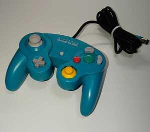 ゲームキューブコントローラー エメラルドグリーン 中期型 動作確認済み GCコントローラー