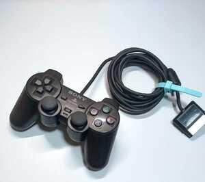 PS2 プレステ2 SONY コントローラー 純正 ブラック  分解清掃動作確認済み ①