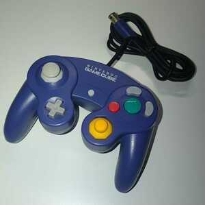 ゲームキューブコントローラー  初期型 バイオレット 動作確認済み GCコントローラー