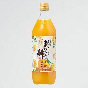 新品 目玉 おいしい酢 日本自然発酵 Y-UM 飲める 国産 愛媛みかん 900ml 1本 | 健康 飲料 まろやか ドリンク 料理 甘酢 果実酢配合