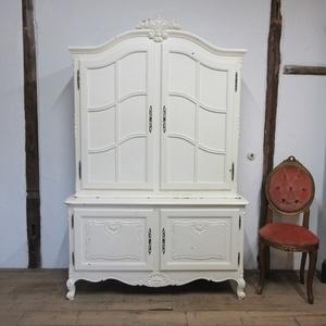 イギリス アンティーク 家具 ブックケース キャビネット 本棚 書棚 飾り棚 ペイント 木製 収納 英国 BOOKCASE 6175c