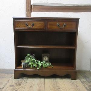 イギリス アンティーク 家具 ブックケース ブックシェルフ 本棚 飾り棚 引き出し 収納 木製 マホガニー 英国 BOOKCASE 6257c 新入荷