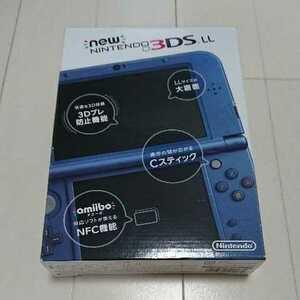 【未使用品】Newニンテンドー3DS LL メタリックブルー