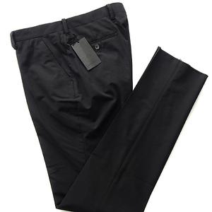 新品 1.9万 ダーバン 日本製 テーパード ウール スラックス 85(LL) 黒【P25595】 D'URBAN 無地 ノータック メンズ パンツ