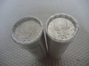 ★2020東京オリンピック パラリンピック競技大会記念貨幣100円クラッド貨幣4次50枚ロール(ミライトワ、ソメイティ )