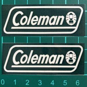 コールマン ・BKステッカー2枚セット ラミネートUV加工済、耐光性もあります!