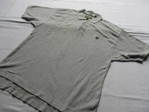 Timberland/ティンバーランド/半袖ポロシャツ/鹿の子素材/左胸ワンポイントししゅう/裾サイドスリット/シンプル/グレー/XLサイズ(9/2)