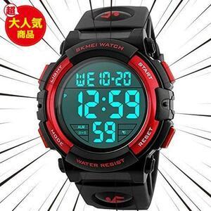 新品Timever(タイムエバー)デジタル腕時計 メンズ 防水腕時計 led watch スポーツウォッチ アラームL3C0
