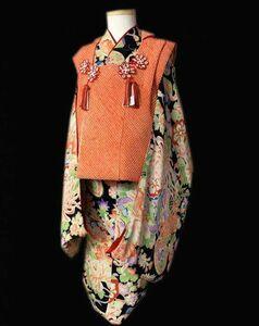"""* кимоно ... античный кимоно obi * замечательная вещь! ребенок кимоно Taisho роман один . три лет ~ """"Семь, пять, три"""" .. классика документ sama . ткань. не прилагается"""