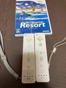 Nintendo Wiiモーションプラスリモコン2台&Wii SportsResort