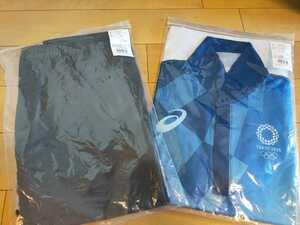 【新品未開封 2点セット Mサイズ 非売品】東京オリンピック ボランティアユニフォーム ポロシャツ、ズボンセット フィールドキャスト制服