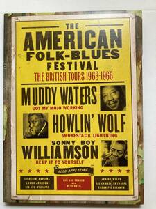 【DVD-ブルース】オムニバス(VARIOUS)「THE AMERICAN FOLK BLUES FESTIVAL-THE BRITISH TOURS 1963-1966」(レア)中古DVD、US初盤、DBL-21