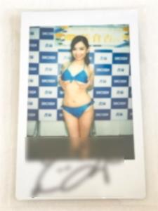 即決 貴重☆笹倉杏 直筆サイン入りチェキ☆写真集『愛してるよ。杏』 書店イベント特典