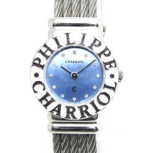 CHARRIOL (シャリオール) 腕時計 サントロペ ブルーシェル SV925 クォーツ