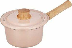 新品アッシュピンク 14cm 富士ホーロー 片手鍋 ミルクパン コットンシリーズ アッシュピンク 14cm CTN-AOYB