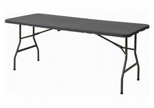 ●BB●本州送料無料/限定1点  折り畳み フォールディング ガーデンテーブル H.FT-18.76(DBR) (管理番号BH-76) ⑪