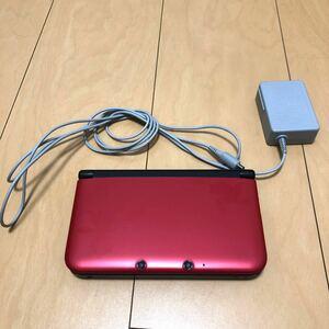 ニンテンドー3DS LL 3DS本体 レッド×ブラック 箱無し 充電器 SDカード