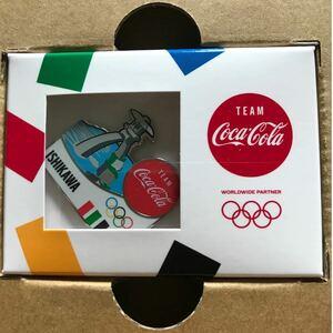 コカコーラ☆オリンピック聖火リレーピンバッジ 石川県